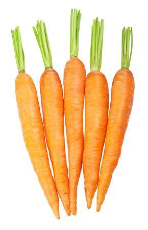 fresh carrots isolated on white background  photo