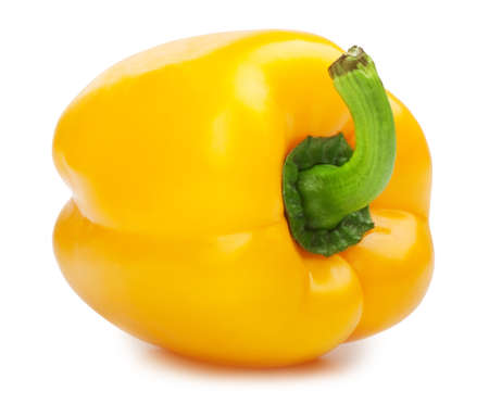 sweet pepper isolated on white background  photo