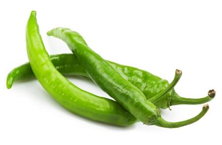 pimenton: Chili pepper aislada sobre fondo blanco