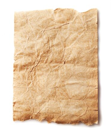 Retro aged grunge paper, isolated on white  photo