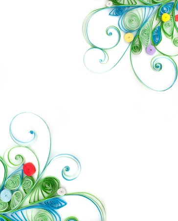 quilling: Quilling. Made of strips of paper snowflake on a white background