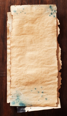 stack of old sheets of paper Stock Photo - 16483994