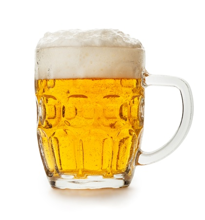 mug of beer isolated on the white background  photo