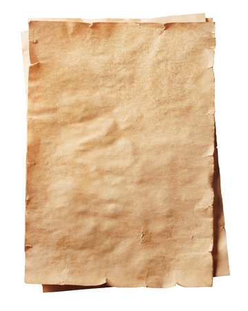 stack of old papers on a white background Stock Photo - 16733653