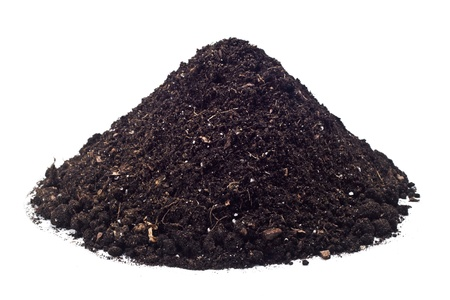 pile dirt isolated on white background  photo