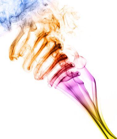 notional: Colorful Rainbow Smoke on Black Background