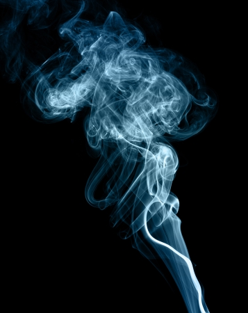 blue smoke:  abstract smoke picture in front of a black background