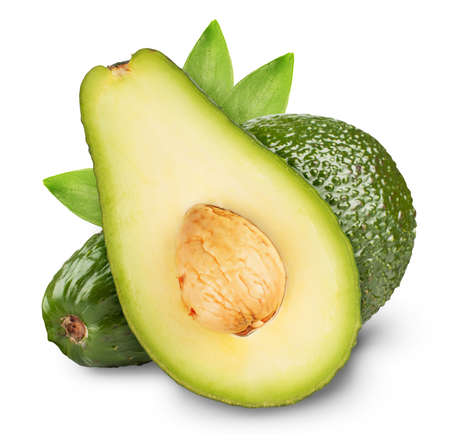 Avocado isolated on a white background photo