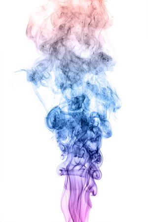 Colorful Rainbow Smoke on Black Background  photo