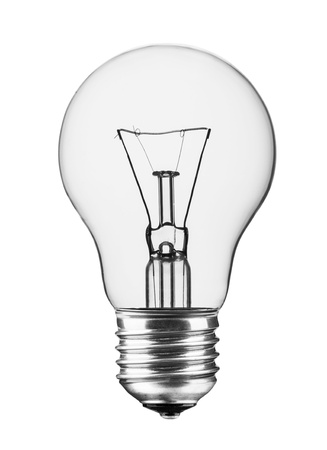 Light bulb, isolated, Realistic photo image  photo