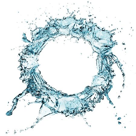 blue water splash isolated on white background  Stock Photo - 17566371
