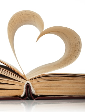 heart of the book's pages  photo