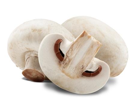 champignon: Champignon mushrooms on white backround. Clipping Path