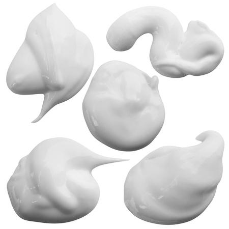 美容霜在白色背景上。裁剪路徑 版權商用圖片
