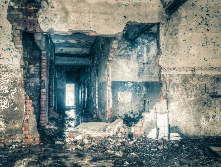 High Dynamic Range Image of an Abandoned building photo