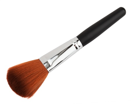 brown make up brush isolated on white  Stock Photo - 20360613