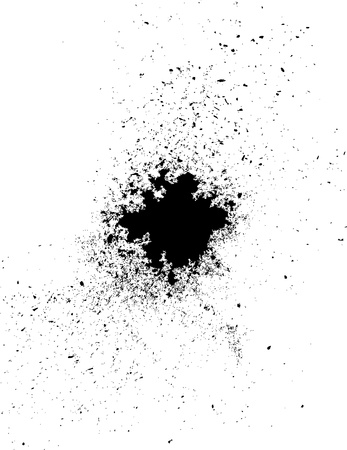 anthracite coal: Particles of charcoal on a white background. Vector