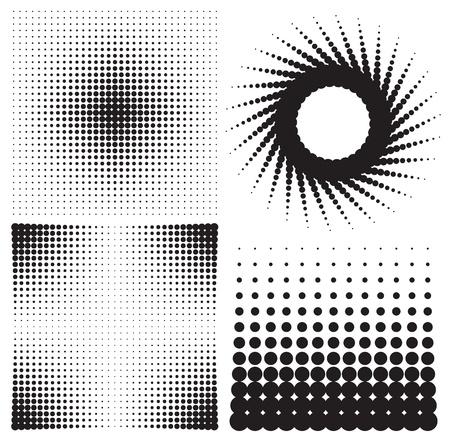 halftone pattern: set of halftones background. vector illustration