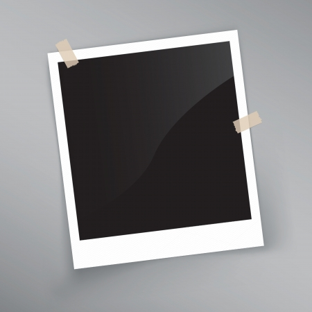 album photo: detailed illustration of a retro photo frame. Image contains gradient mesh
