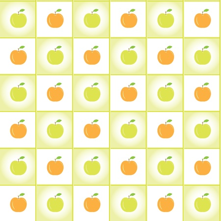 Ripe apples pattern, vector background Vector