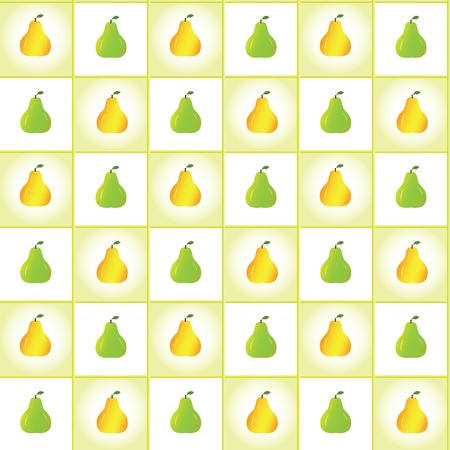 Ripe pears pattern, vector background Vector