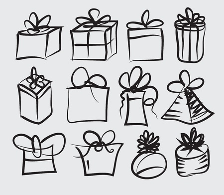 illustration of set of gift boxes Vector