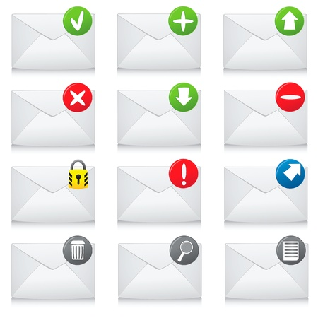 junk mail: e-mail icons for your design