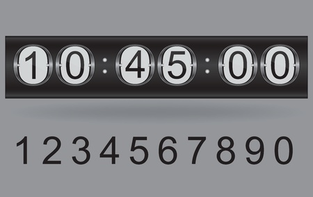 Illustration of vector countdown timer  Vector