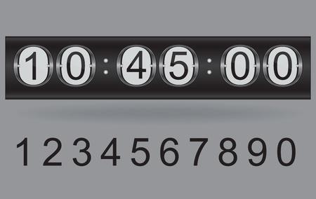 mechanical panel: Illustration of vector countdown timer  Illustration