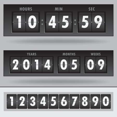 time machine: Vector countdown timer - easy change time  Illustration