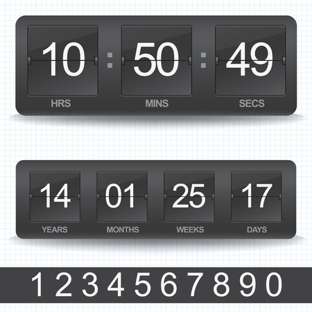 count down: Vector countdown timer - easy change time  Illustration