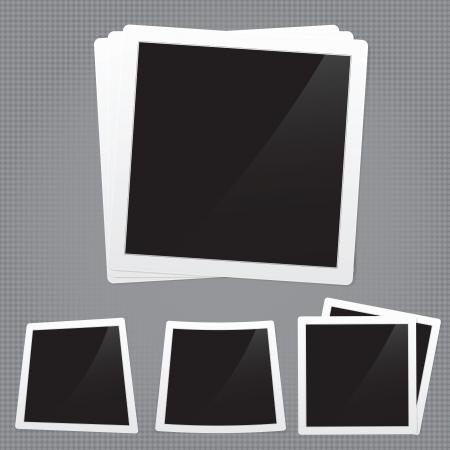 レトロなフォト フレームの詳細なイラスト。イメージには、グラデーション メッシュが含まれています  イラスト・ベクター素材
