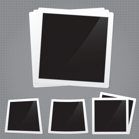 feature films: detailed illustration of a retro photo frame. Image contains gradient mesh