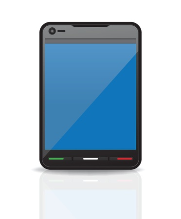Black Smartphone. Isolated On White Background Vector