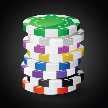 chips stack: Casino chips stacks. Transparency used