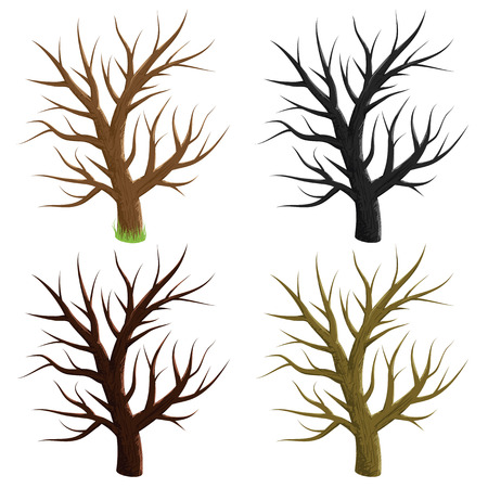 Tree vector silhouette illustration design  Vector