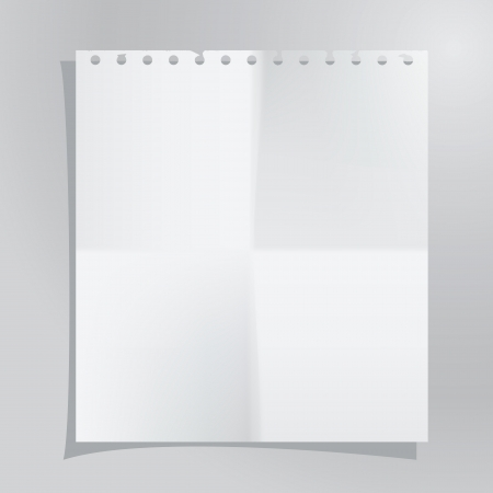 Vector template of a paper sheet. Image contains gradient mesh Vector