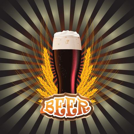 cerveza negra: etiquetas para la cerveza. La imagen contiene malla de degradado
