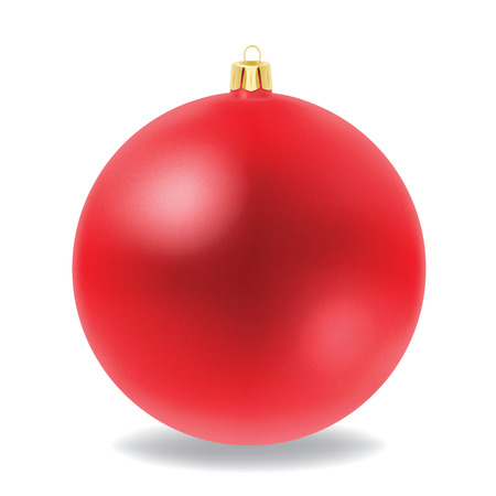 Vector of red Christmas ball  Vector