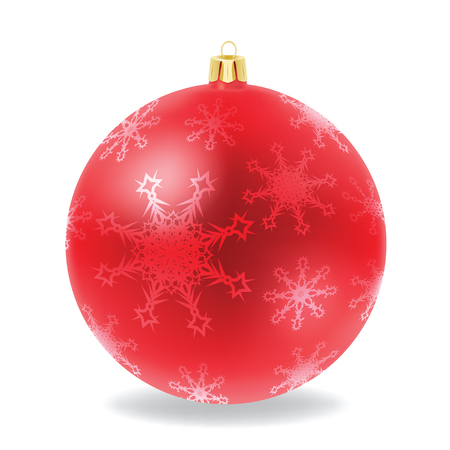 lightweight ornaments: Vector of red Christmas ball  Illustration