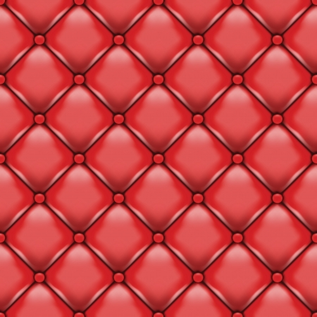 Vector red leather upholstery. Image contains gradient mesh Vector