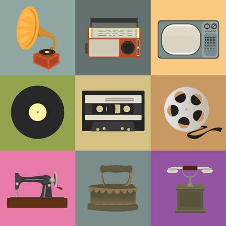 Retro style icons. Nostalgic Design Stock Vector - 22972379