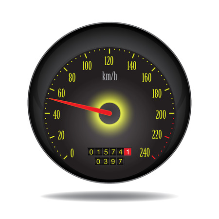 vector car speedometer  Vector