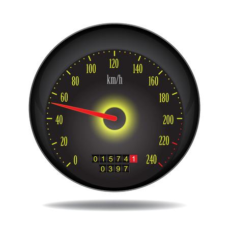 xxl: vector car speedometer  Illustration