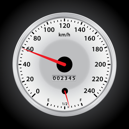 kilometer: vector car speedometer for you design
