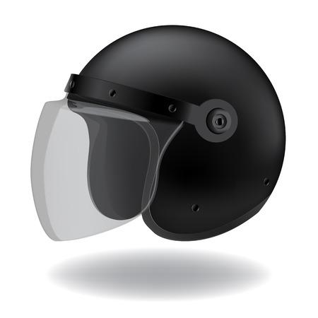 motorradhelm: Polizei-Motorrad-Helm auf wei�