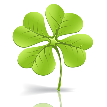 Clover leaf of water on a white background