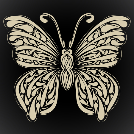 Abstract butterfly. Vector for your design Vector