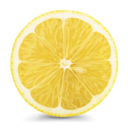 lemon slice isolatad on a white background.  Standard-Bild