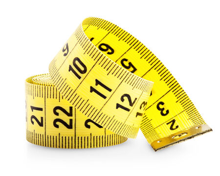 tapeline: Measuring tape isolated on white background. Clipping Path